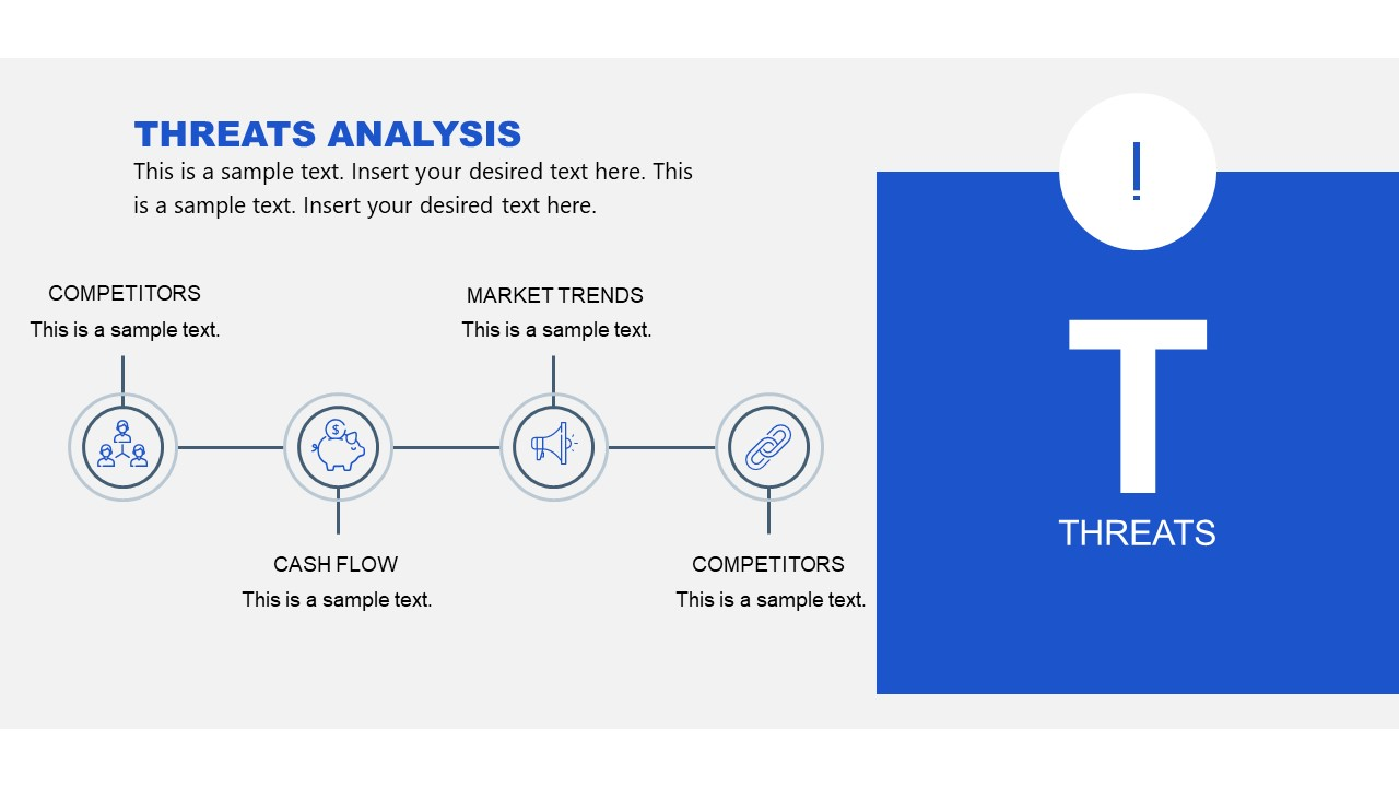 Threats in SWOT Analysis Slide