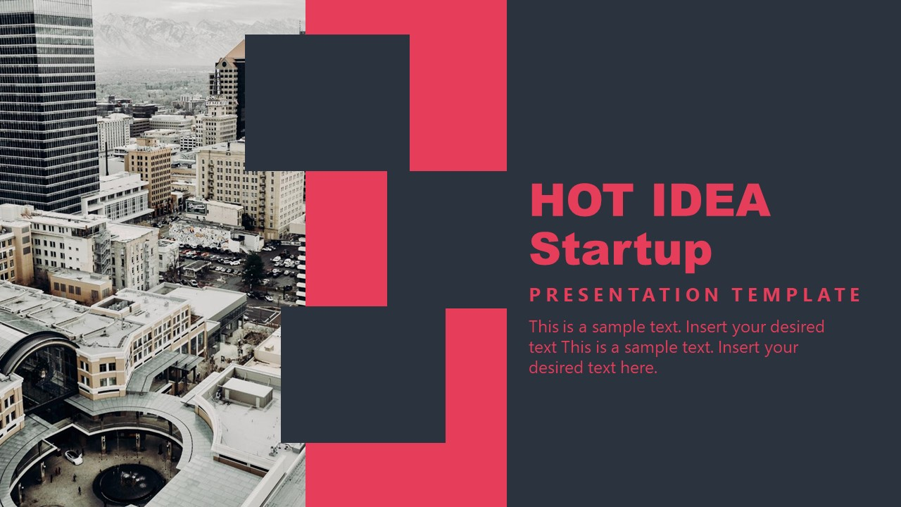 PowerPoint Cover Hot Ideas Template