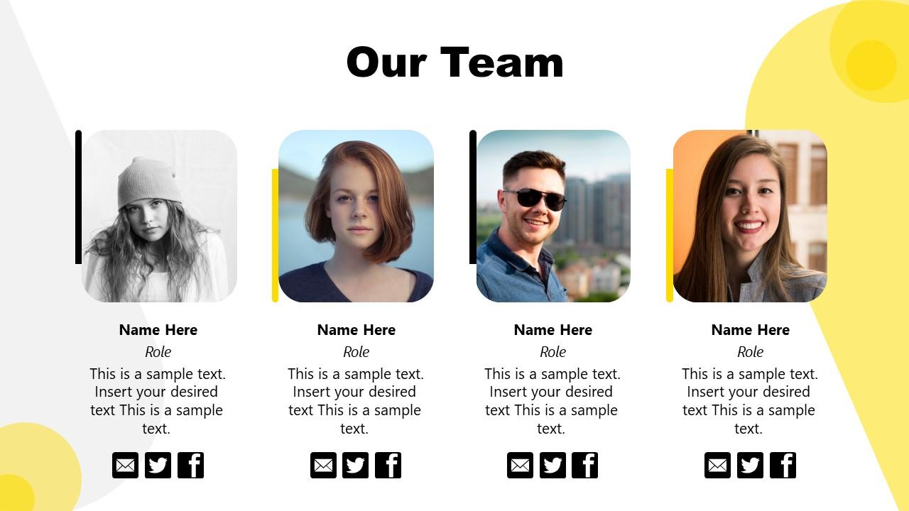 Team Introduction Slide for Brand Strategy Presentation