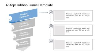 PPT Funnel Chart Template Level 1