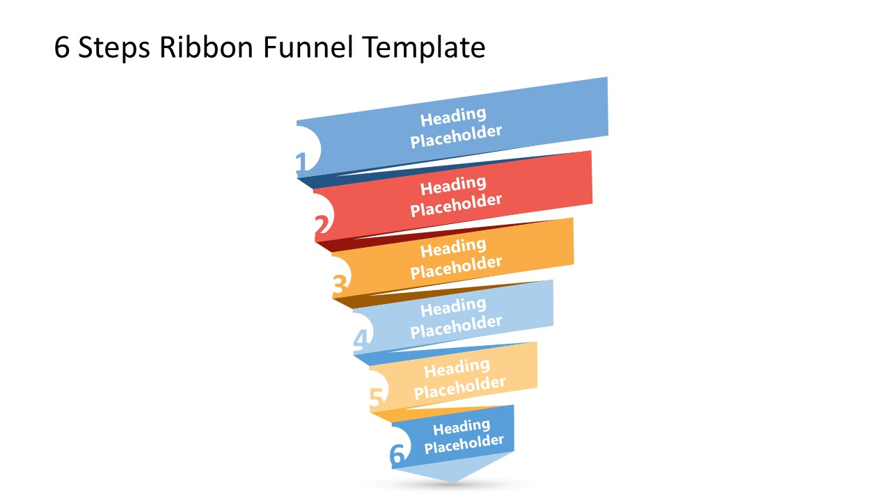 6 Stages of Funnel Chart PPT