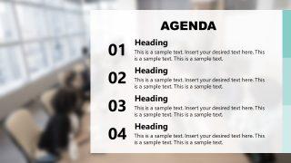 Slide of Presentation Agenda Success Story