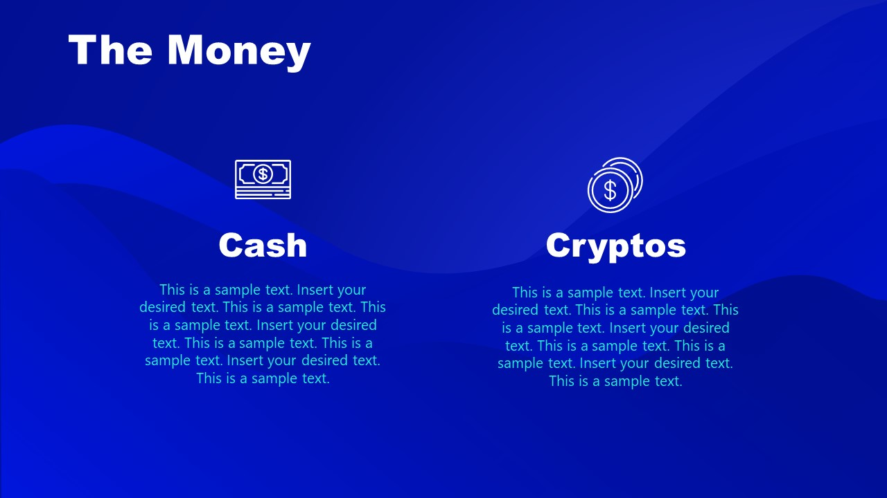 Money Symbols Cryptocurrency PPT Template