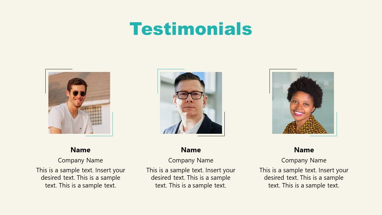 PPT Testimonials Slide of Shopify Store Presentation
