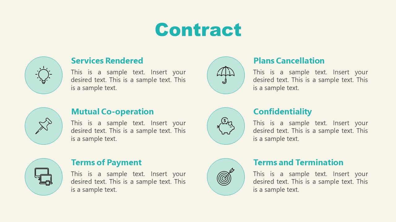 PPT Contract Slide of Shopify Store Presentation