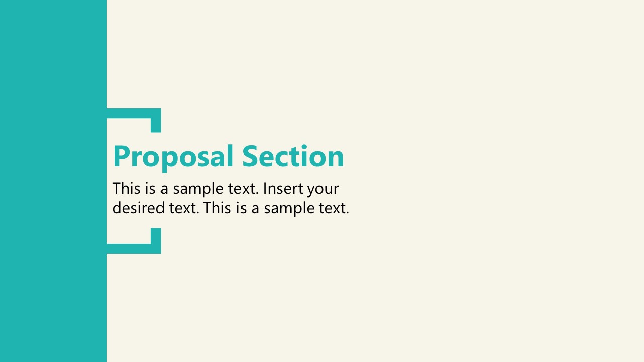 PPT Proposal Section Slide of Shopify Store Presentation