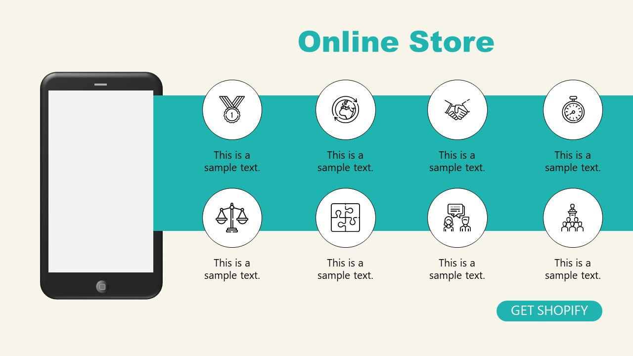 PPT Online Store Demo of Shopify Store Presentation