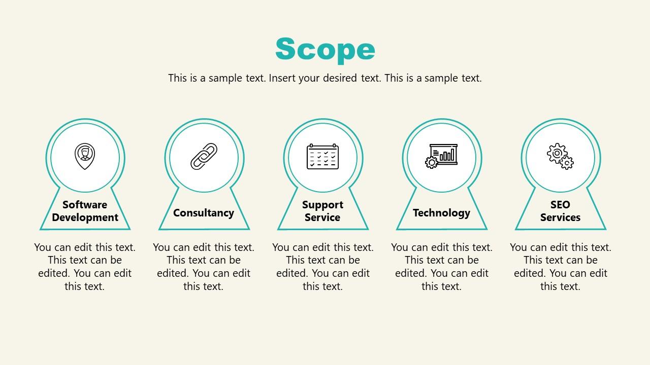 PPT Scope Slide of Shopify Store Presentation