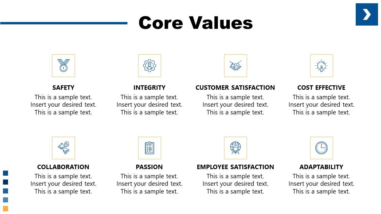 PPT Core Values Template Company Culture