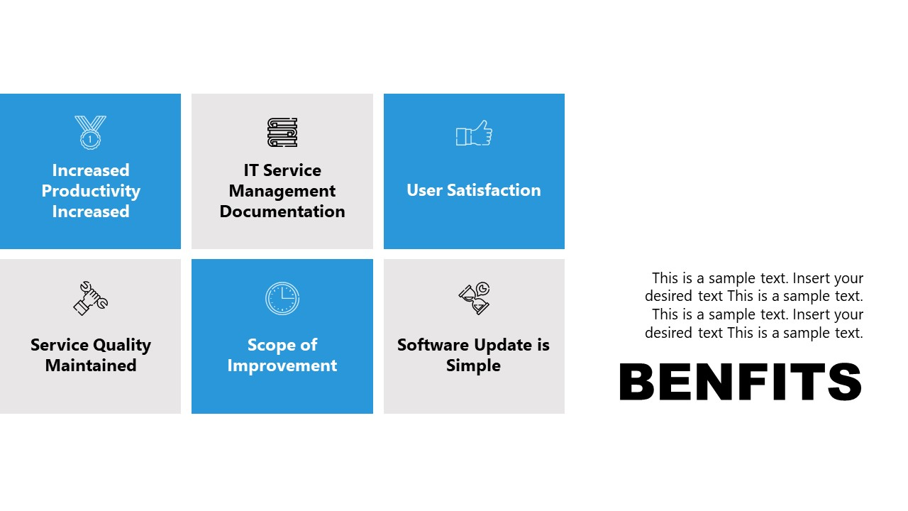 Template of Benefits for Incident Management