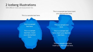2 Iceberg Illustration Shapes for PowerPoint