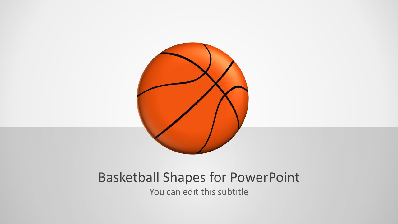 Basketball vector Shapes in PowerPoint