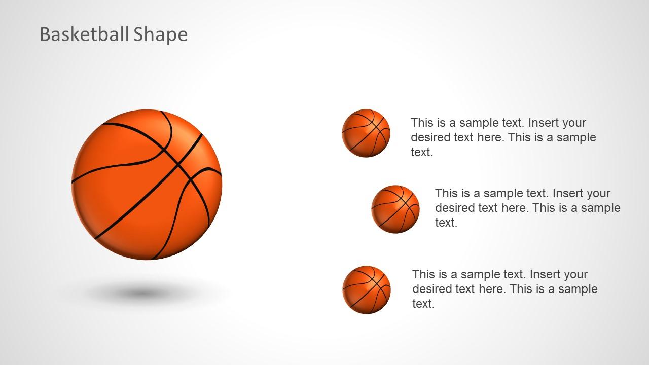 Slide of Presentation Agenda in Basketball Shapes