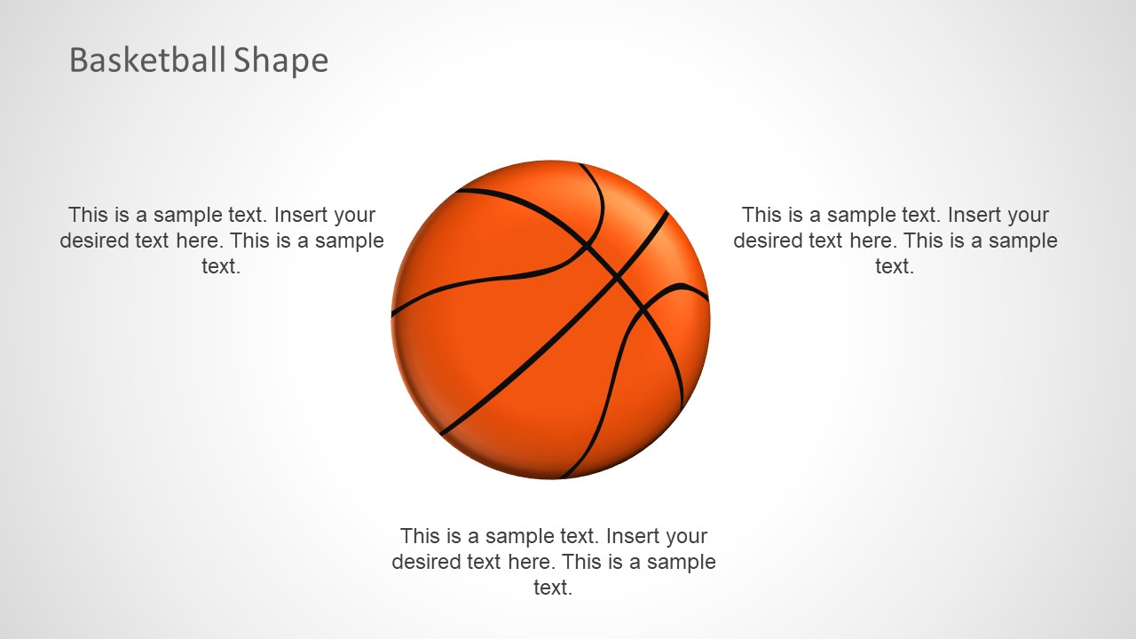Template of Label Placeholders for Basketball
