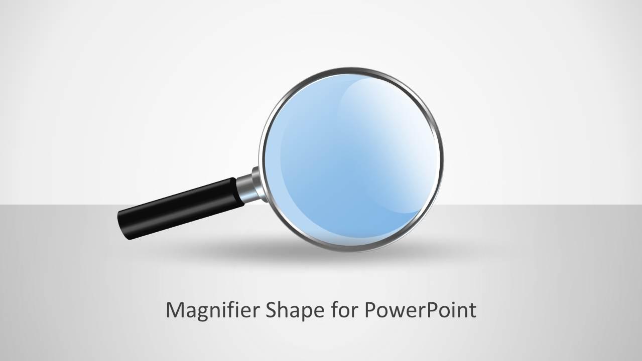 Magnifier Glass Shape For Powerpoint Slidemodel