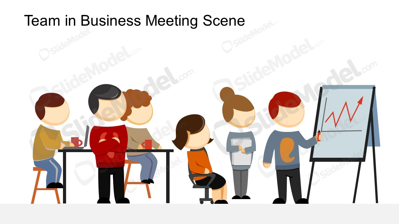 Vector Images of Cartoon for Team Meeting