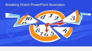 Clock PowerPoint Pie Pieces Template
