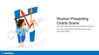Data Chart Presentation Woman PPT