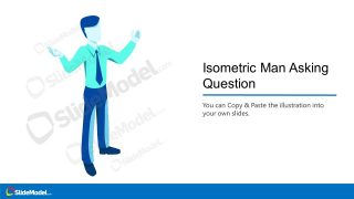 Template of Isometric Man Cartoon
