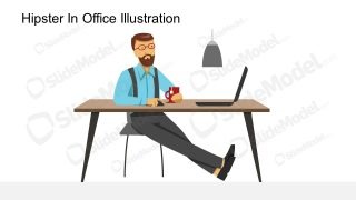 Trendy Home Office PowerPoint