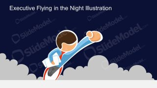 PPT Executive Flying PowerPoint Slide