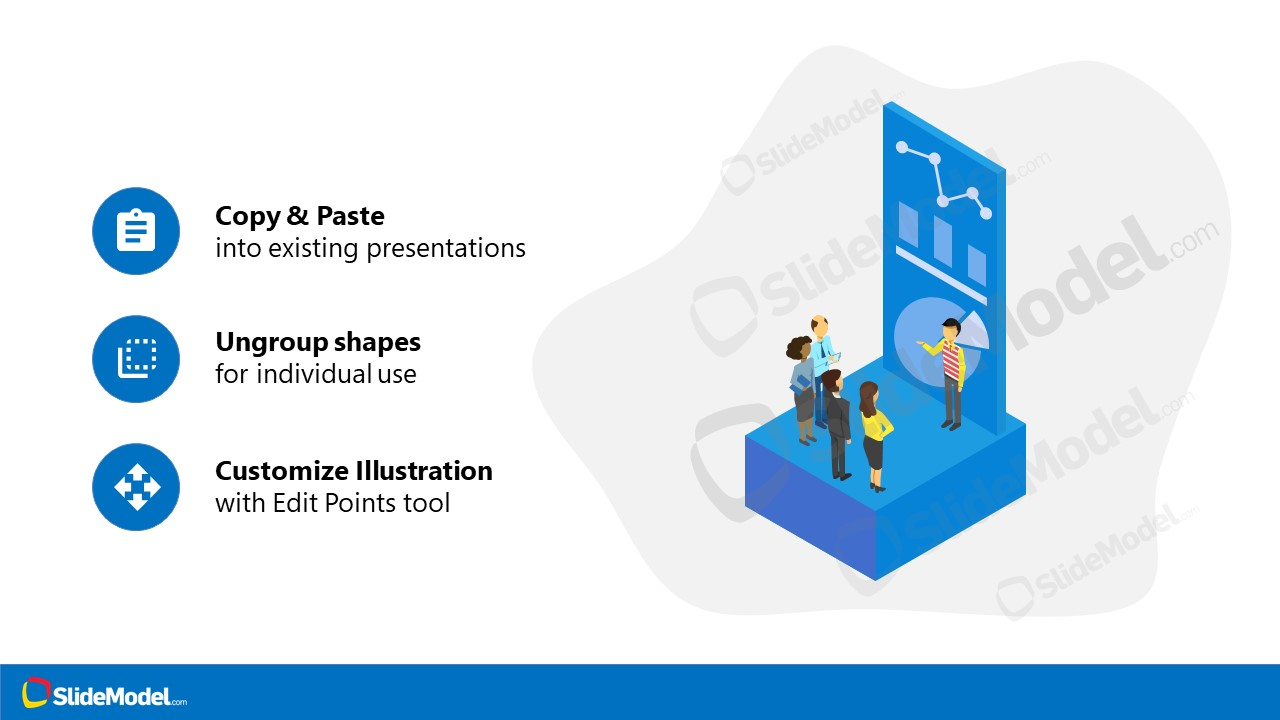 PowerPoint Isometric Dashboard Template