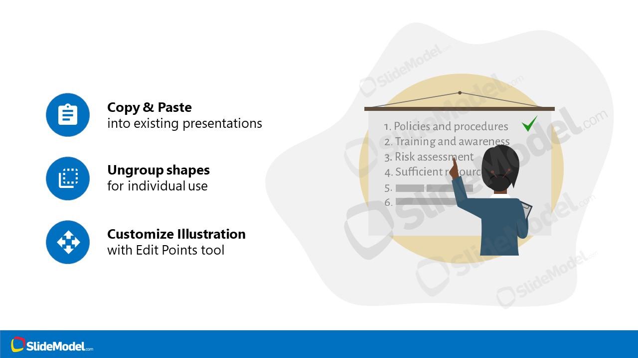 Dashboard Checklist PowerPoint Woman Sildeshow