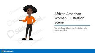 Vector Image of African America Female Figure