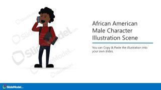 Illustration Scene of African American Executive