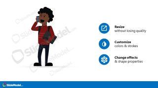 Presentation of African American Cartoon Character