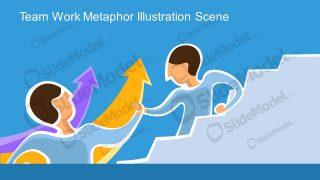 PPT Teamwork Cartoon Character Illustration