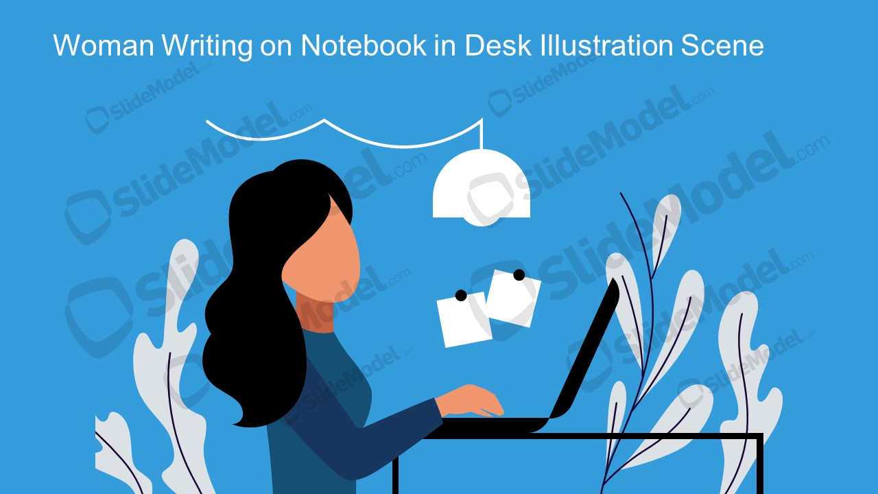 Women in Home Office Vector Images