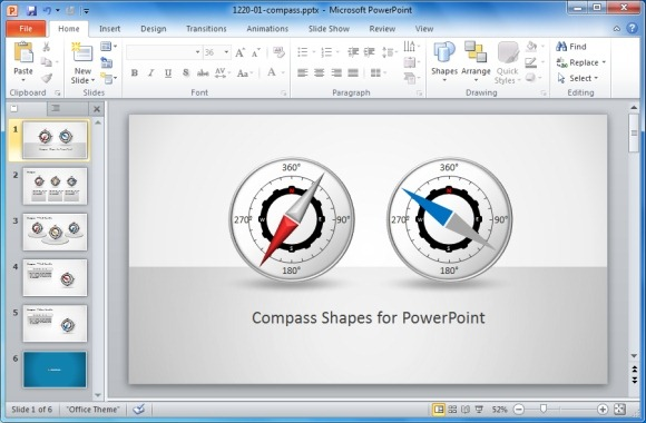 Compass Shapes for PowerPoint