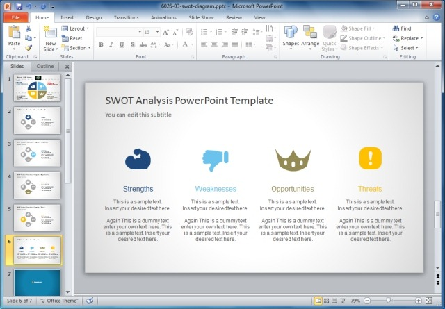 Creative SWOT Analysis PowerPoint Template