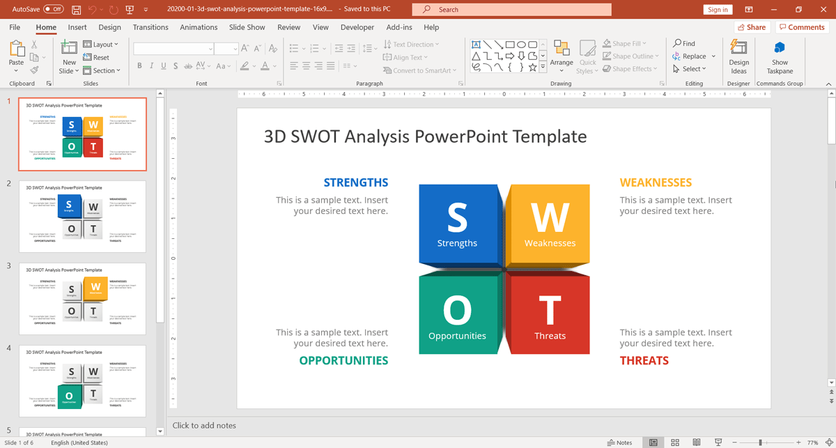 How To Present SWOT Analysis In PowerPoint - Awesome replace powerpoint template concept