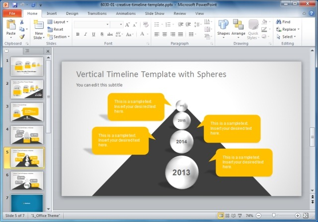 creative templates for gantt charts & project planning in powerpoint, Modern powerpoint