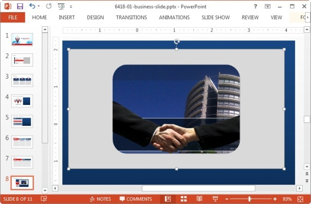 Crop image to shape in Microsoft PowerPoint