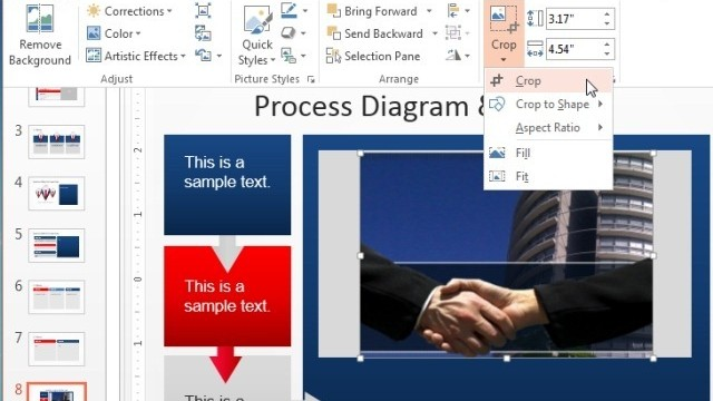 How To Reshape And Crop A Picture in PowerPoint 2013