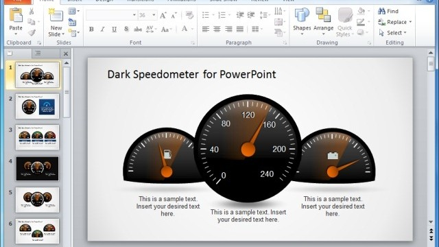 Beautiful Gauges And Speedometer PowerPoint Templates For Presentations
