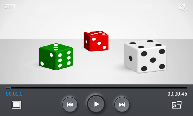 Dice shapes template for PowerPoint