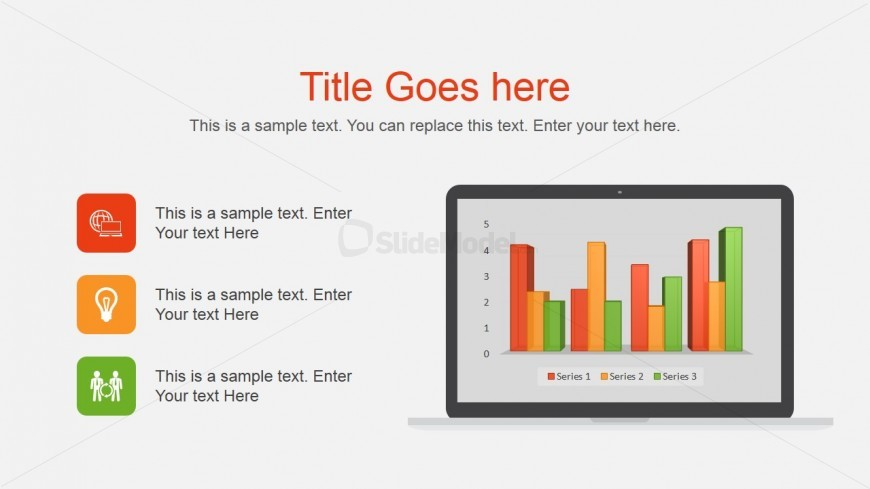 Computer Monitor Vector for PowerPoint