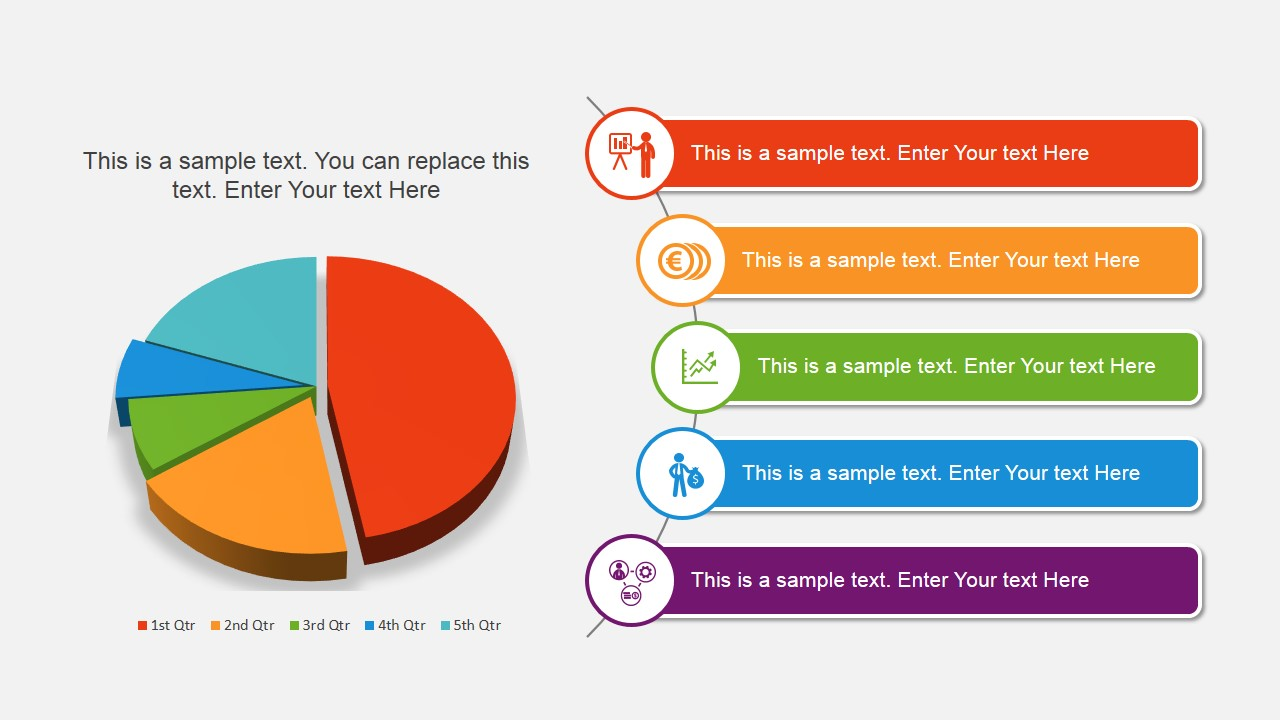pie chart design for powerpoint - slidemodel