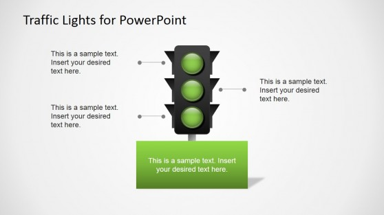 Green Traffic Lights for PowerPoint