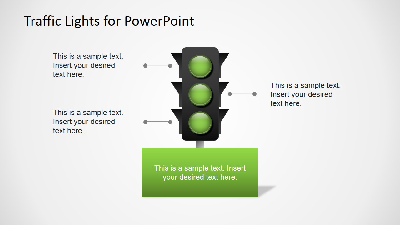 Free Traffic Lights For Powerpoint Slidemodel Flow Diagrams