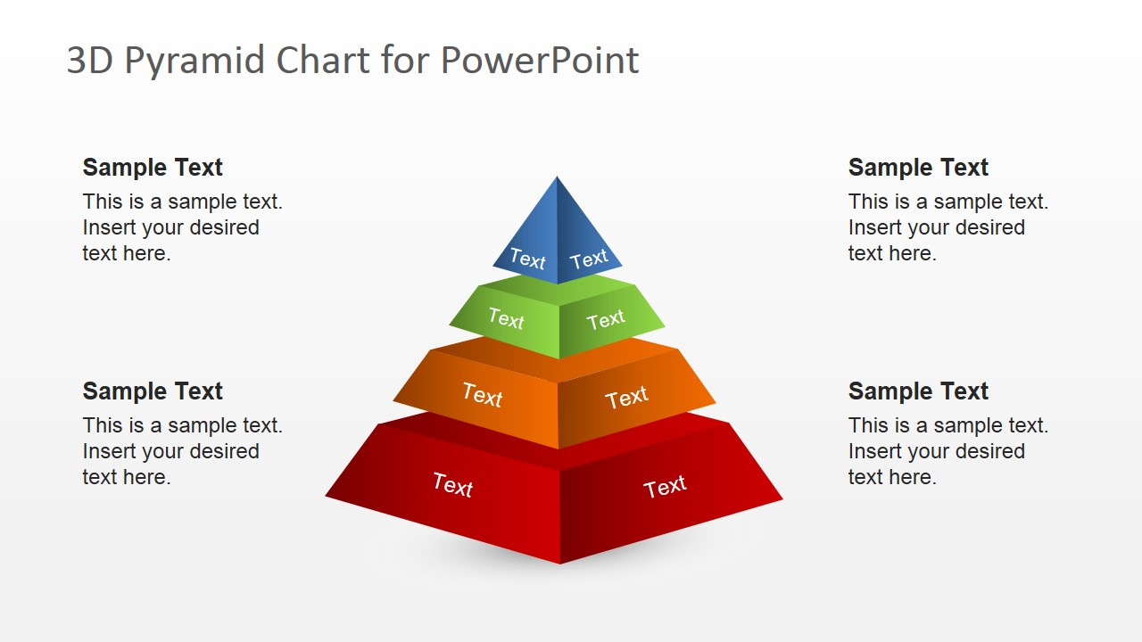 free 3d segmented pyramid slide for powerpoint slidemodel
