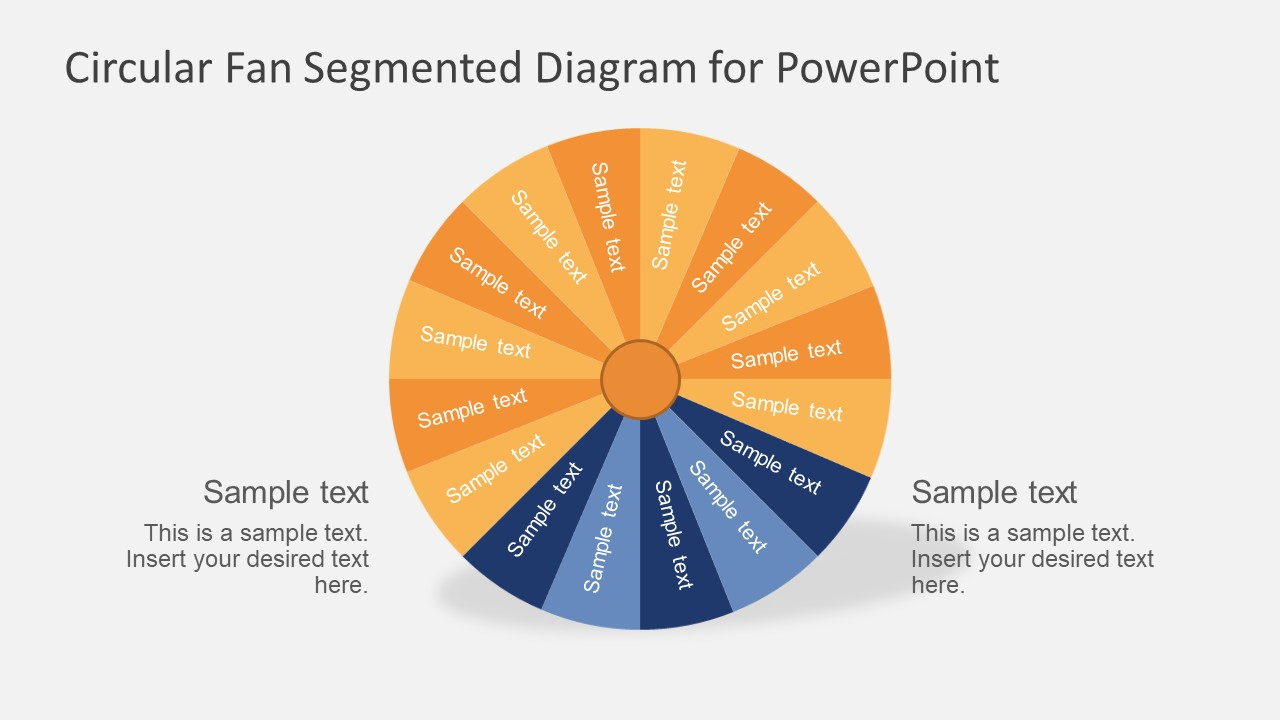 free circular segmented fan diagram powerpoint template - slidemodel, Modern powerpoint