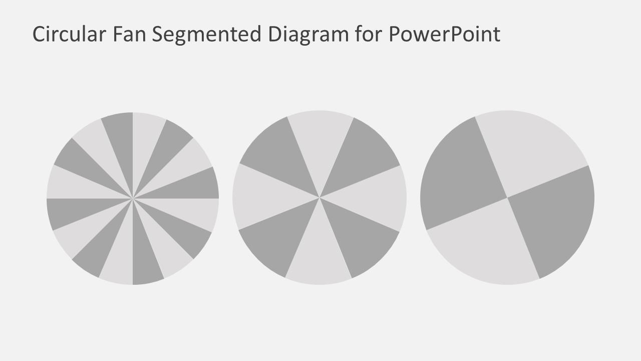 Free Circular Segmented Fan Diagram Powerpoint Template Slidemodel Of A Options