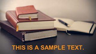 Books Notes Editable Banner Slide