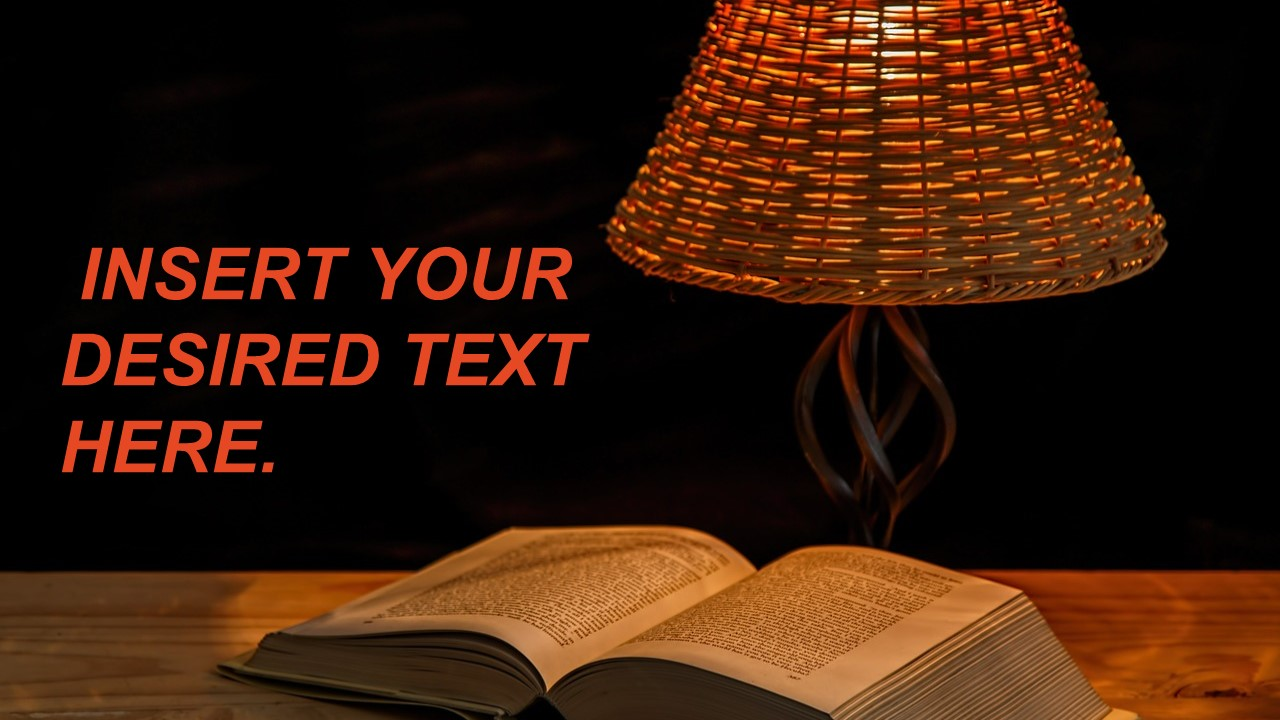 Book and Lamp Reading Slide
