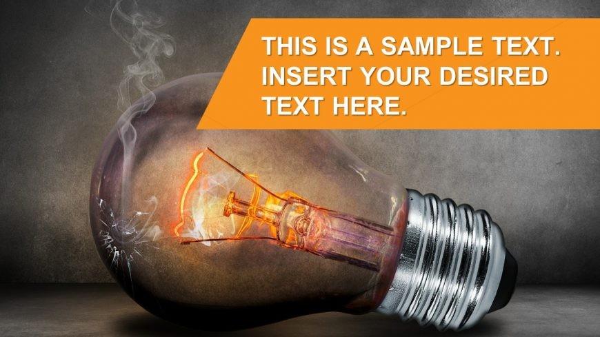 Creative Idea Light bulb Burning Presentation